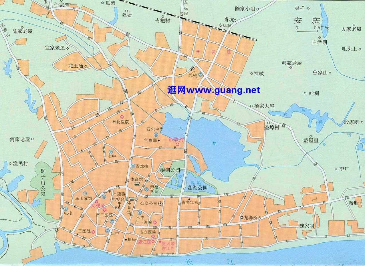 安庆市区地图
