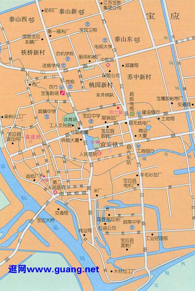 宝应市区地图
