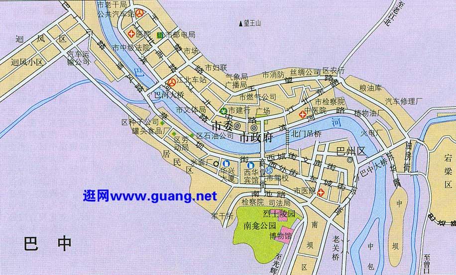 巴中市区地图图片