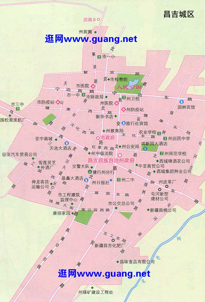 昌吉市区地图