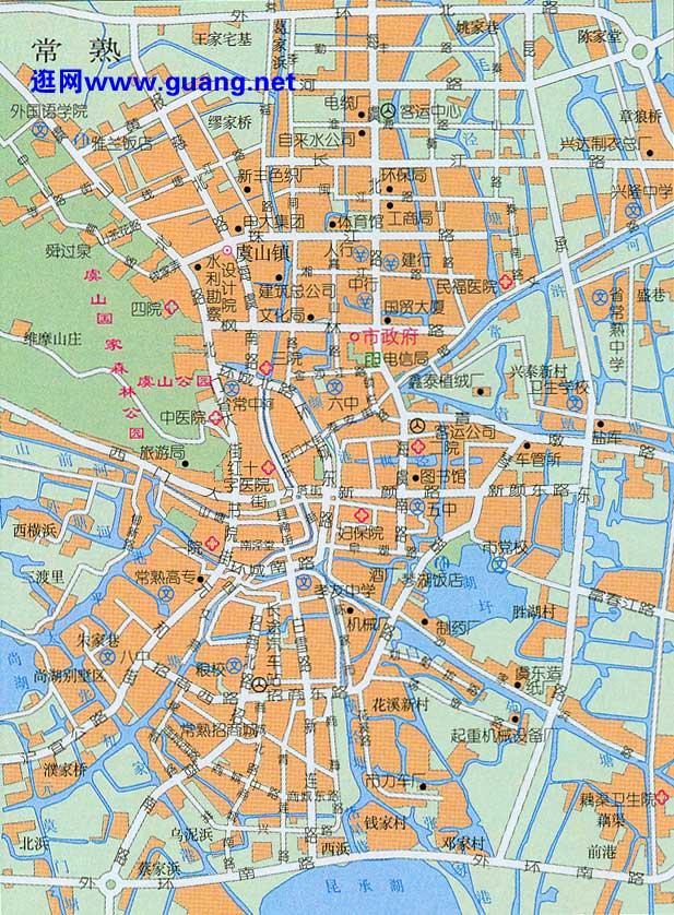 常熟市区地图