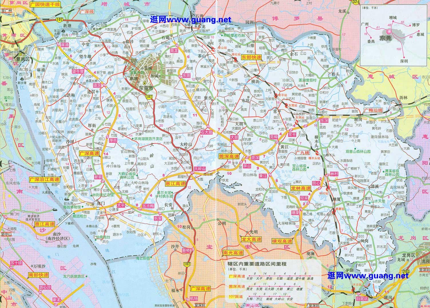 广东惠州市地图矢量素材cdr格式