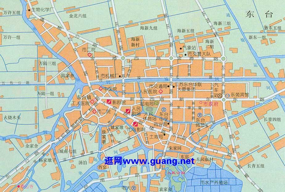 东台市区地图