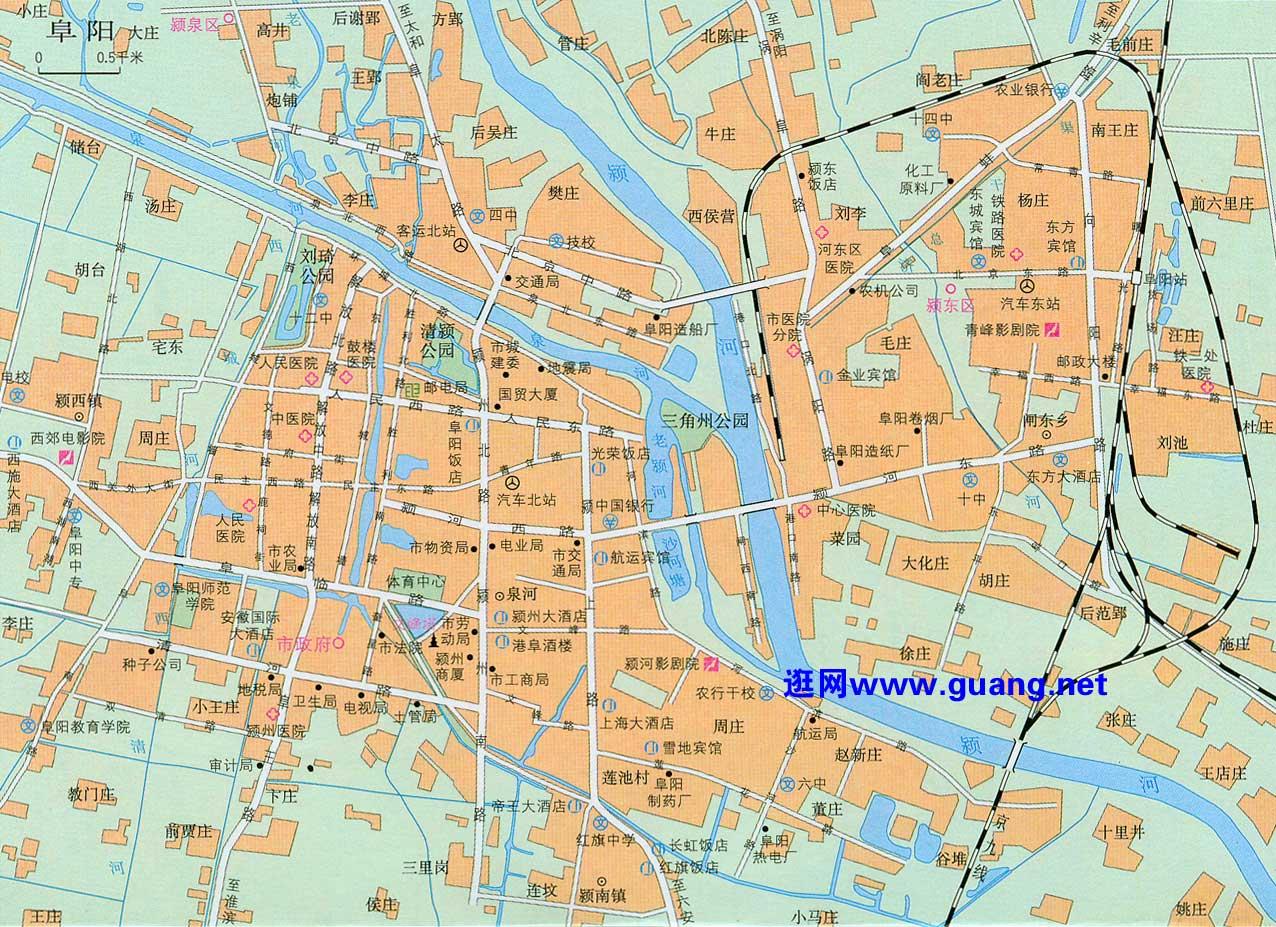 阜阳市区地图