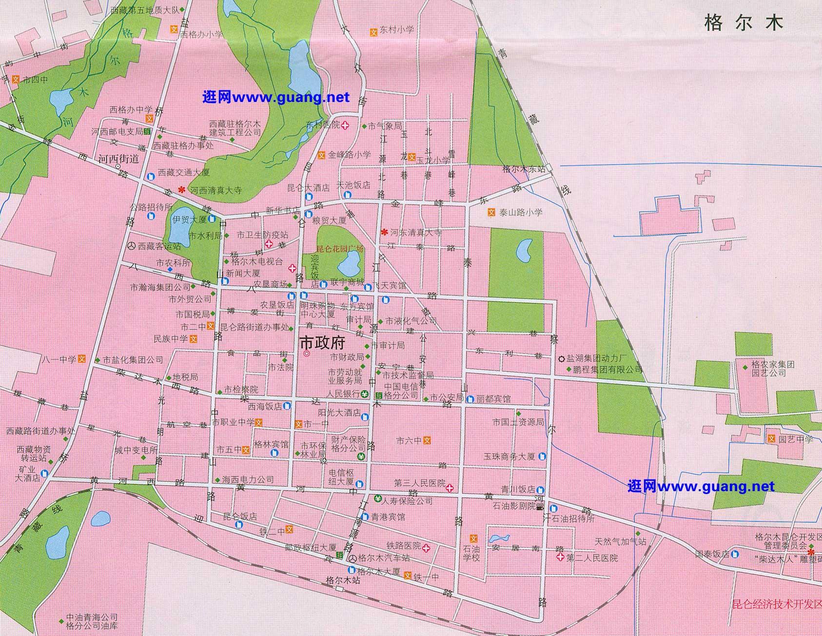 青海格尔木地图_格尔木地图的康兴华园展示_地图分享