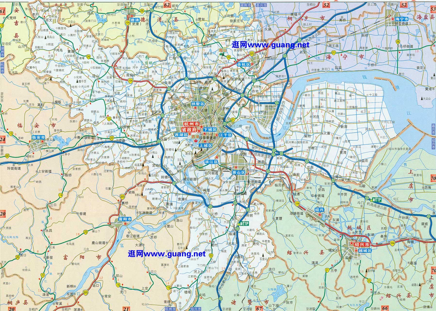 2015年版杭州地图