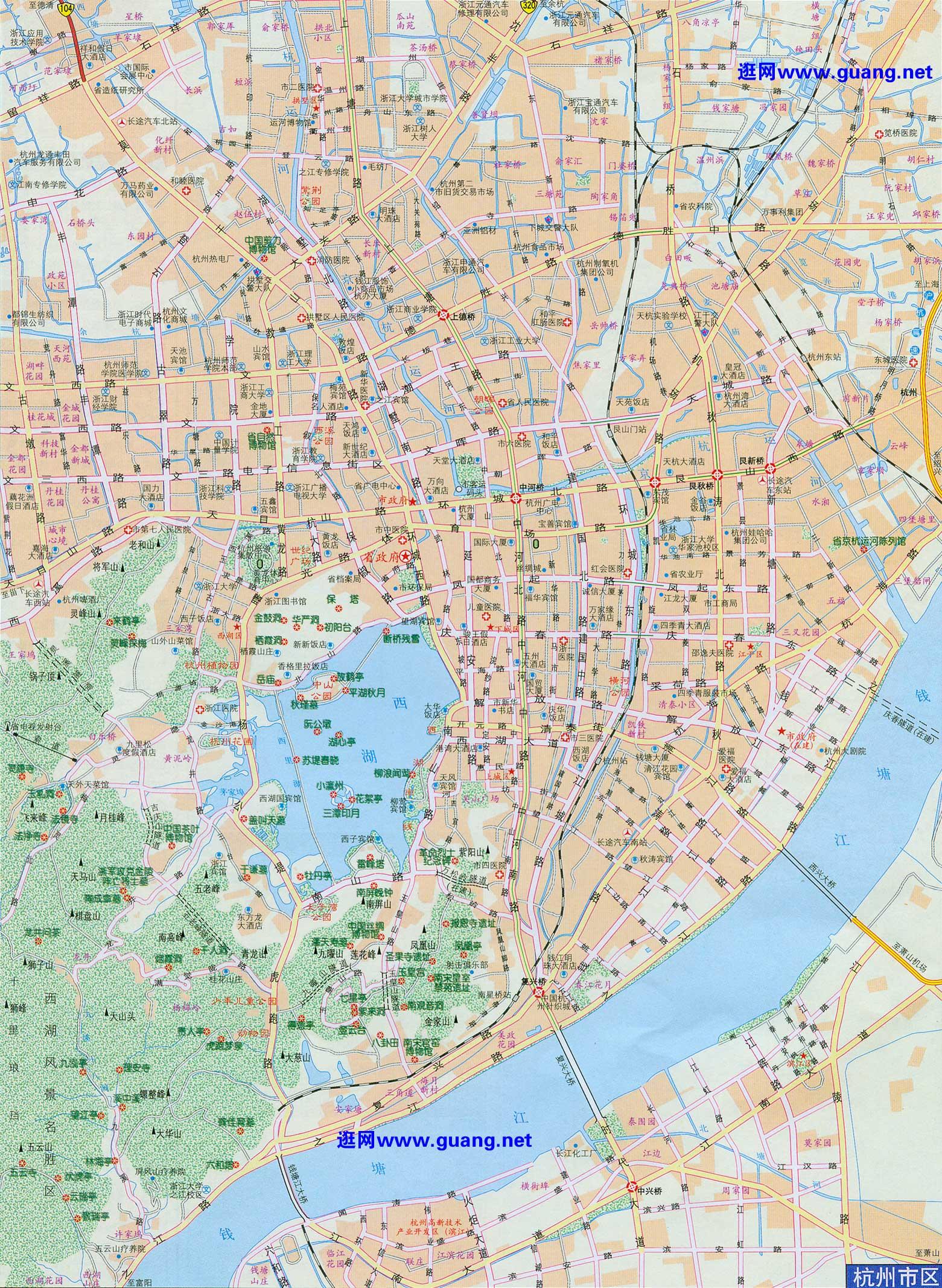 杭州市区地图