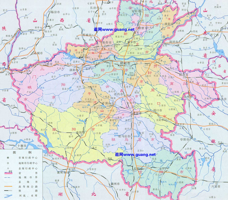 2015年版河南地图-河南地形图