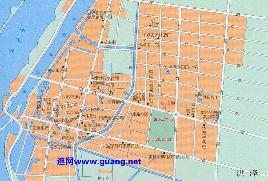 洪泽市区地图