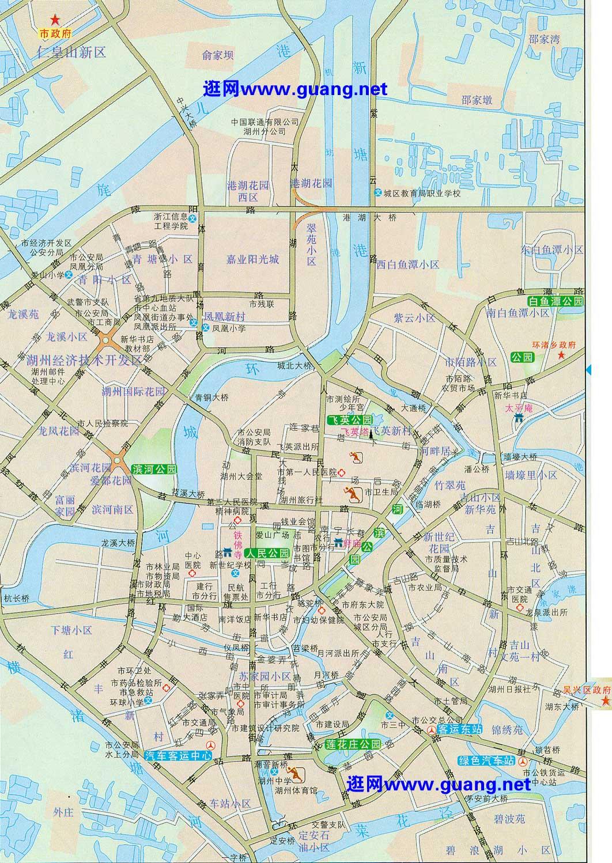 湖州市区地图