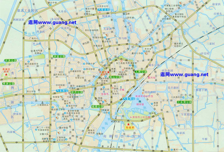 嘉兴市区地图
