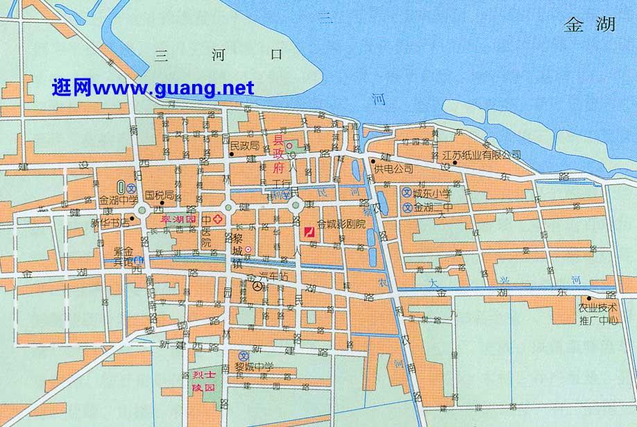 金湖市区地图