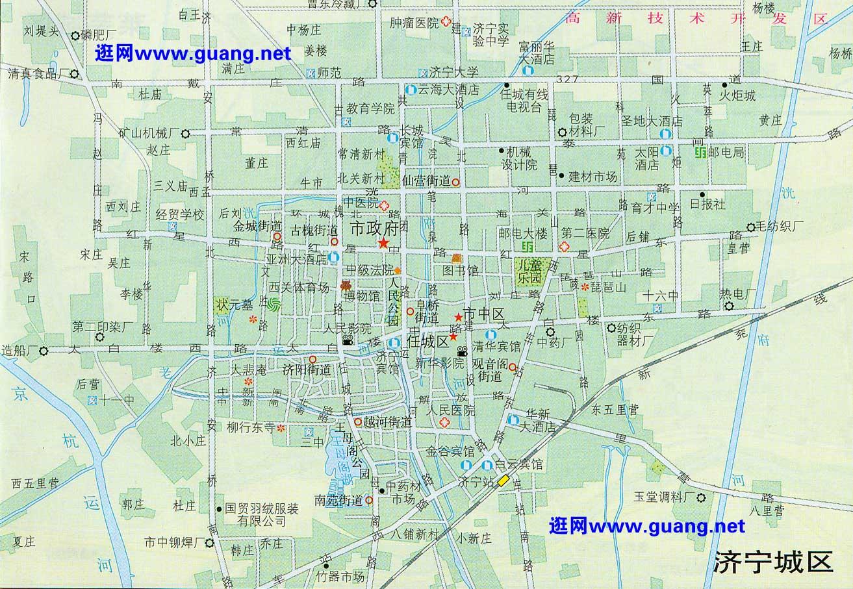 济宁市区地图