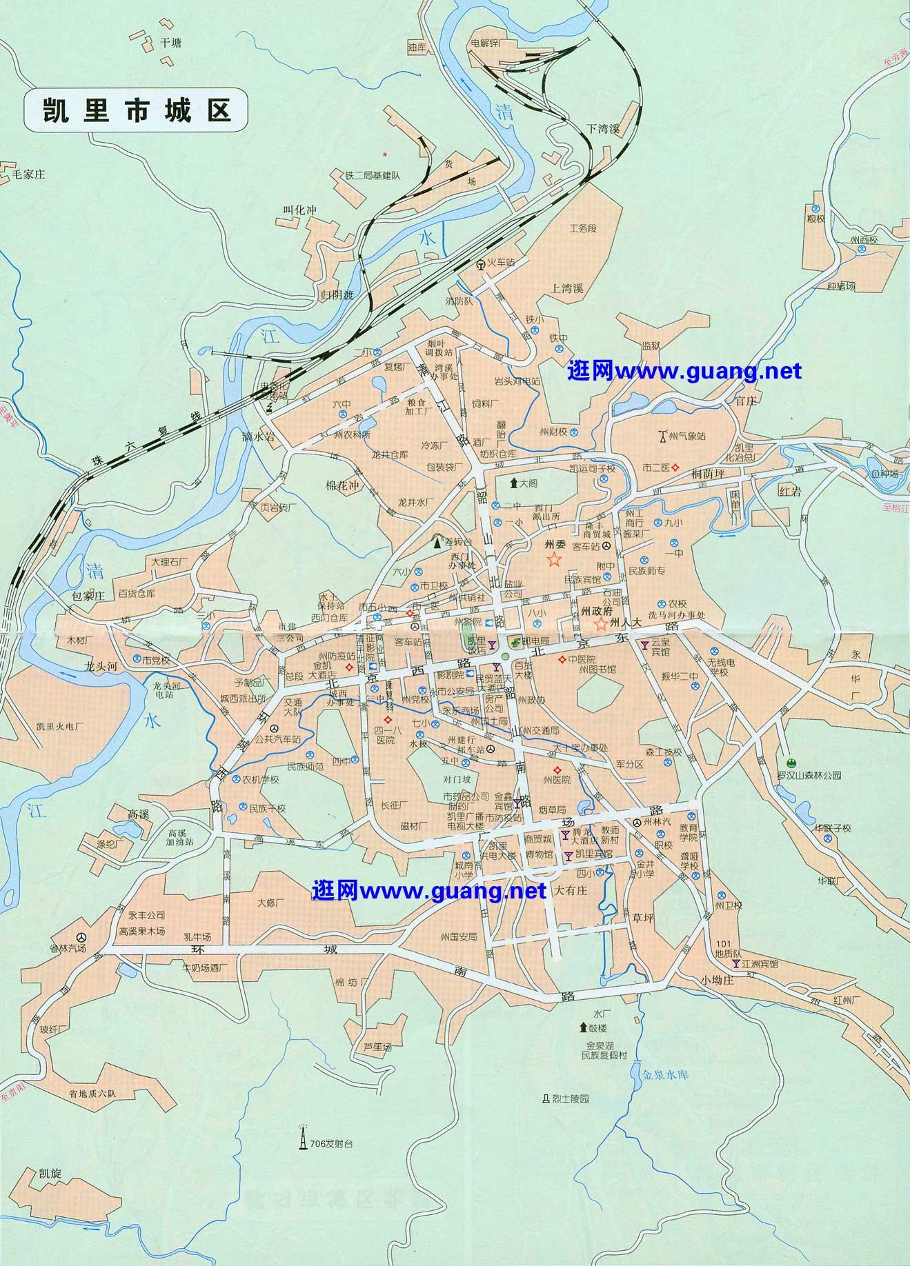 凯里市区地图