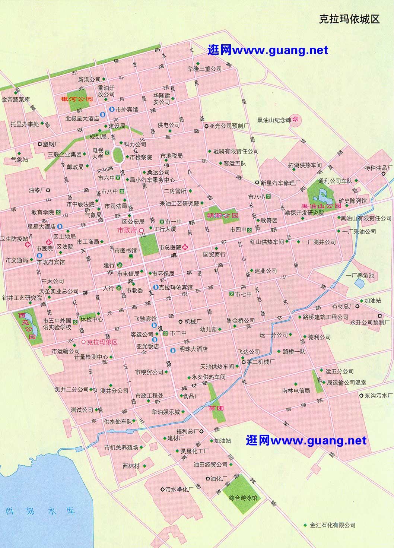 克拉玛依市区地图
