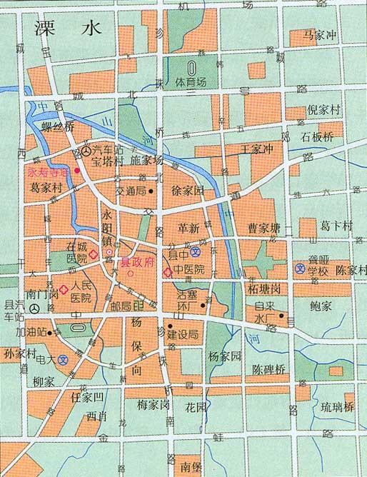溧水市区地图