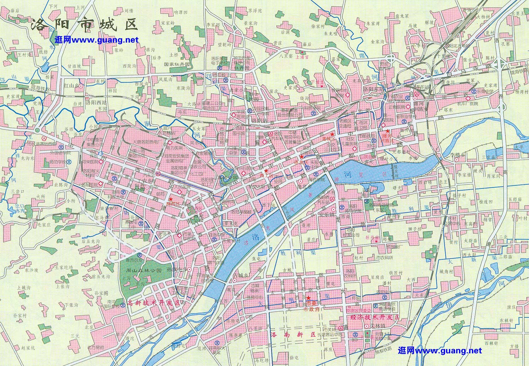 洛阳市区地图