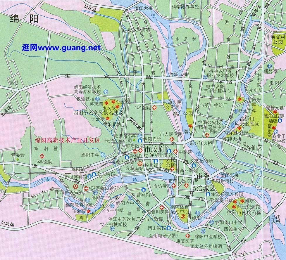 绵阳市区地图