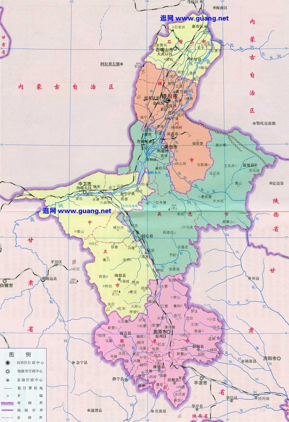 银川市区交通地图