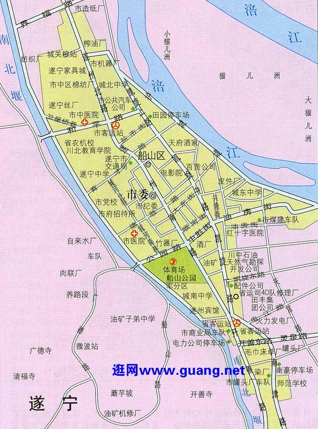 遂宁市区地图