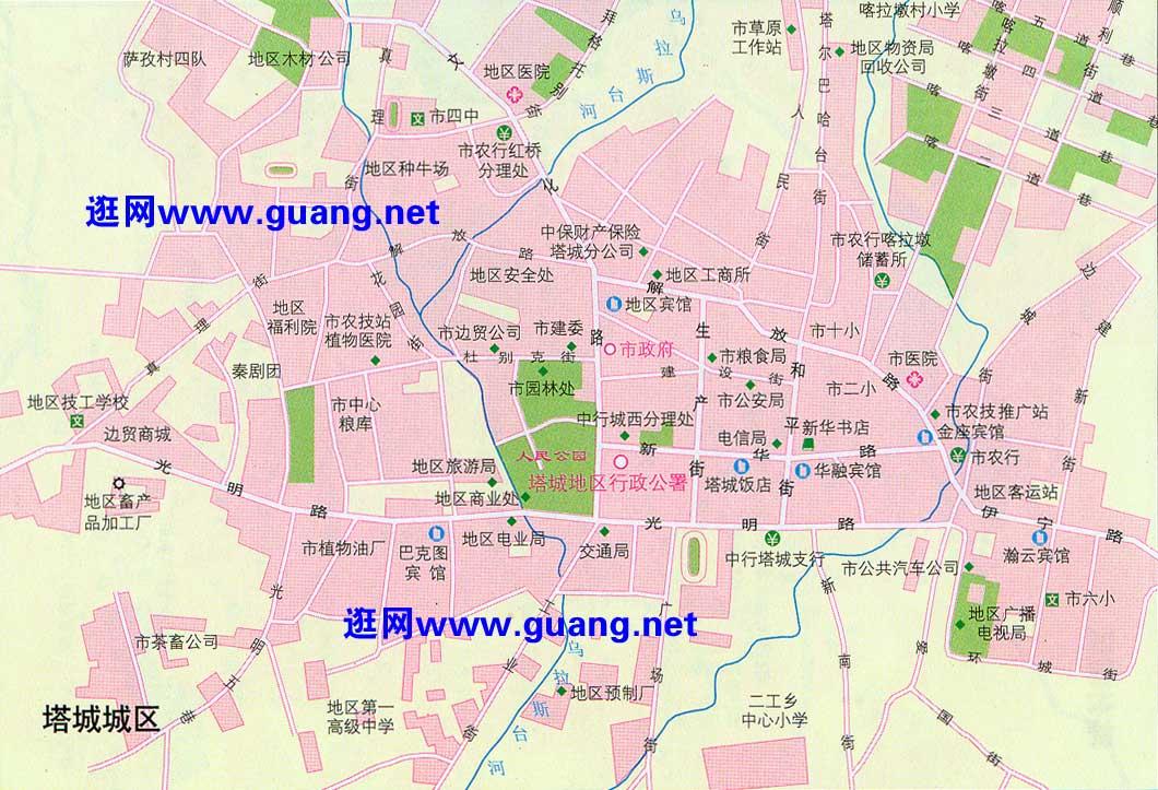 塔城市区地图