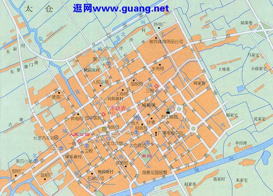 太仓市区地图