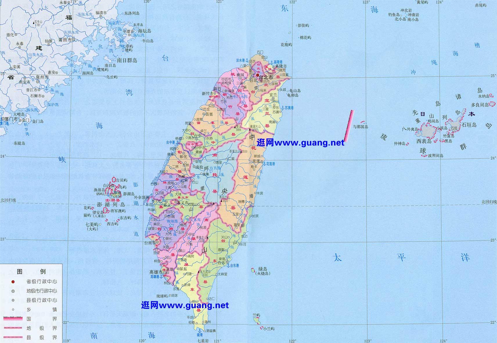 2015年版台湾地图