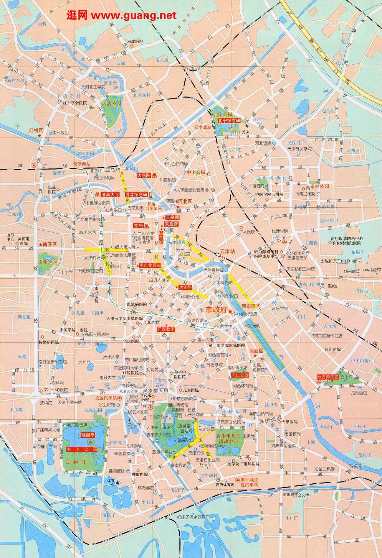 2015年版天津市区地图