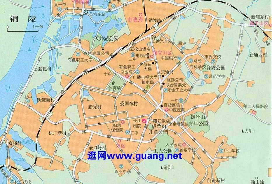 铜陵市区地图