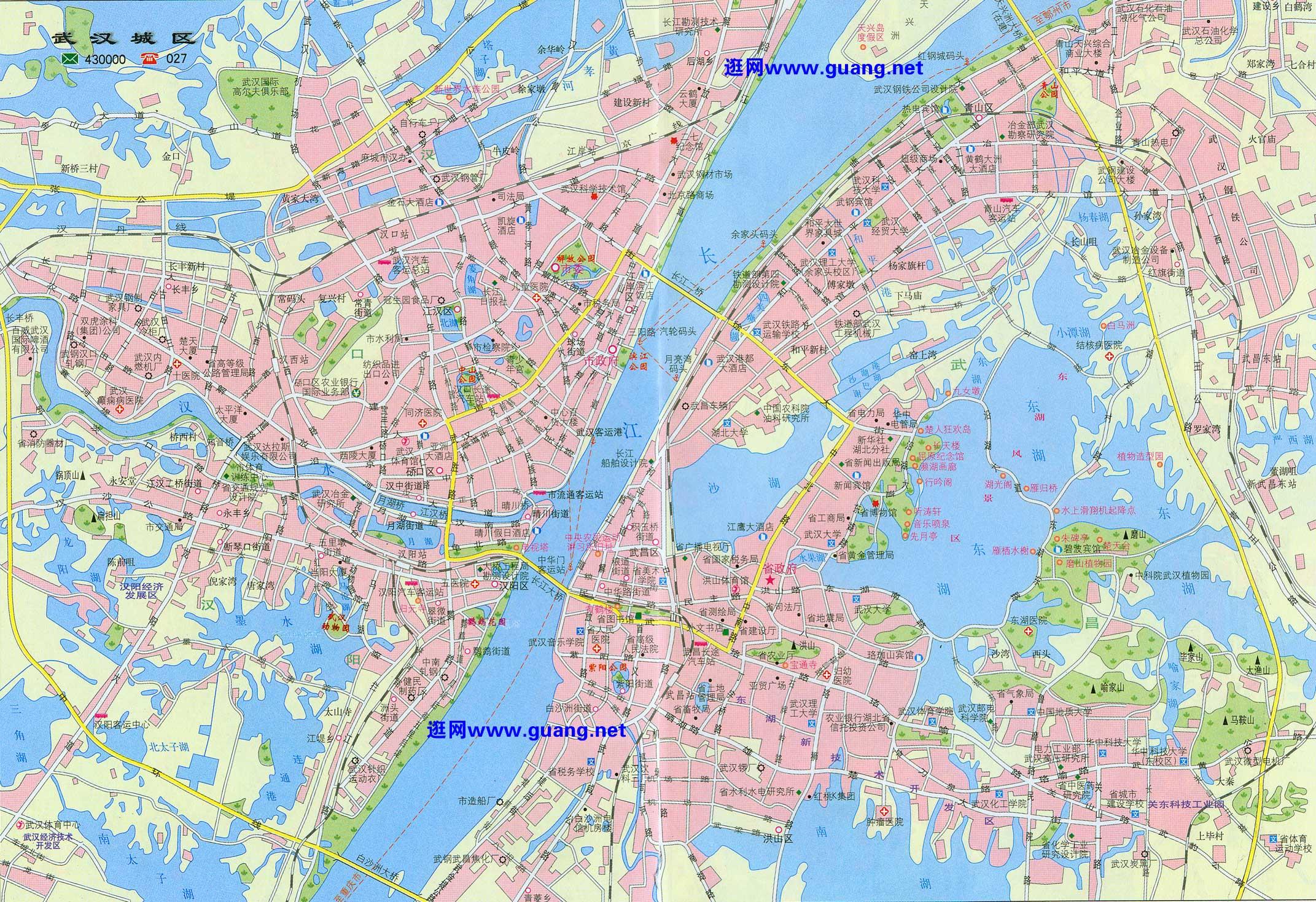 武汉市区地图