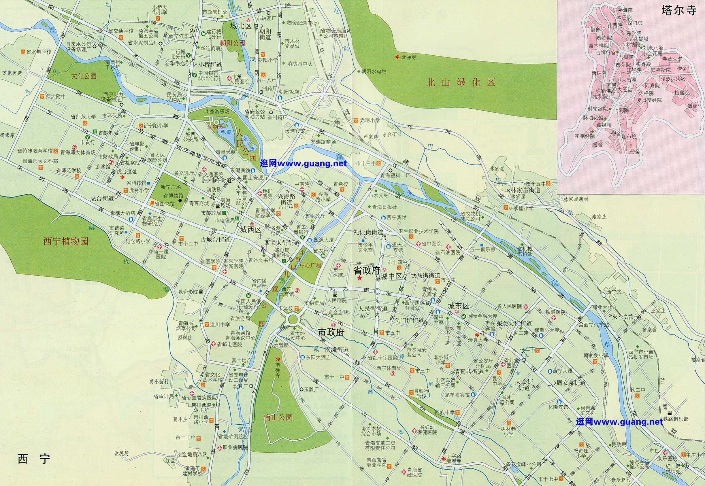 西宁市地图高清版高清版大地图