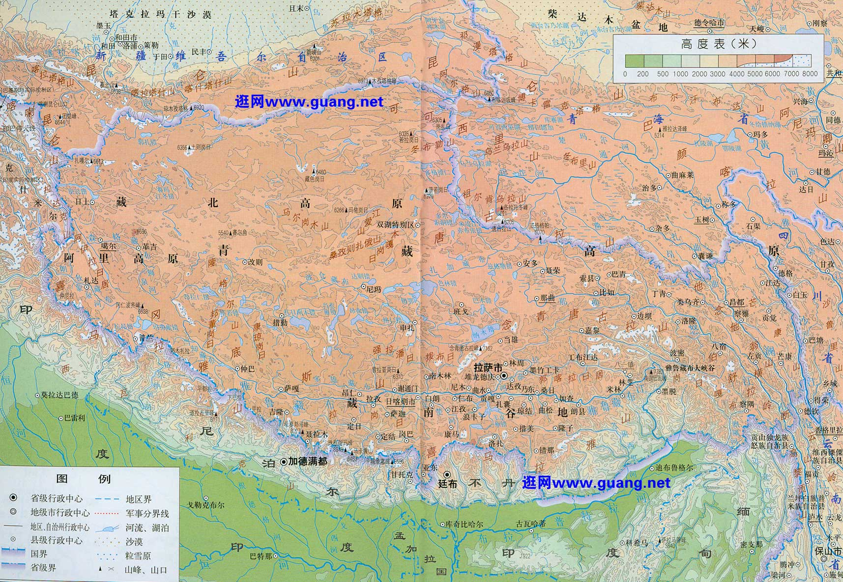 2016年版西藏地图
