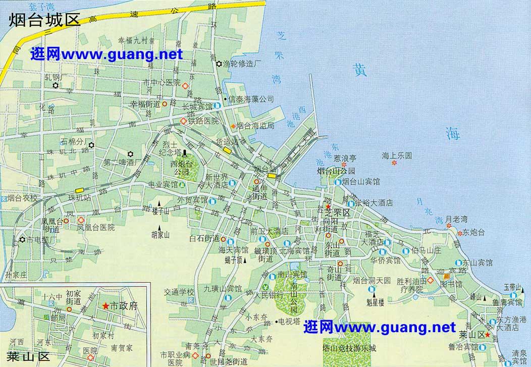 烟台市区地图