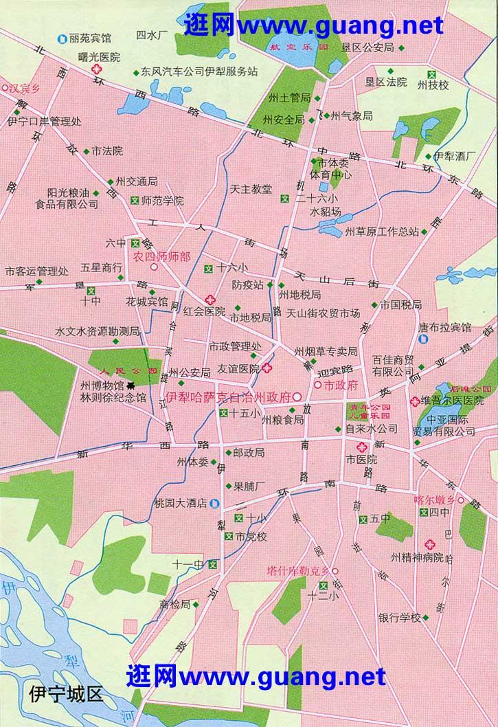 伊宁市区地图
