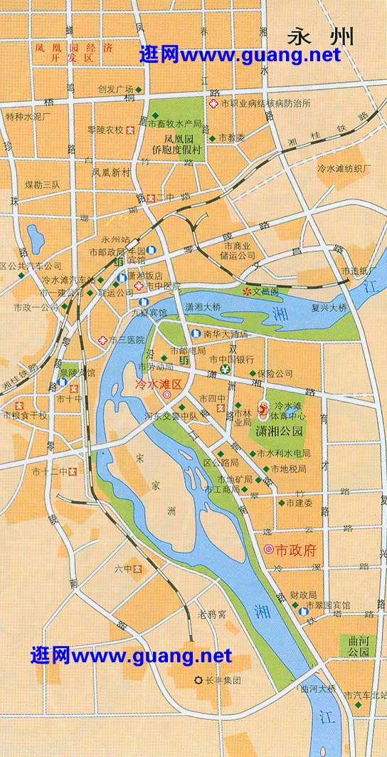2015年版永州地图,东安地图