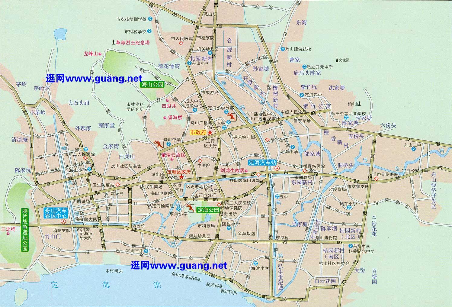 舟山市区地图